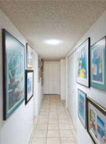 Hallway with 290 DS Daylighting System
